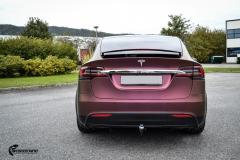 Tesla Model X helfoliert med CC4210 Matt Sparkling Berry fra PWF (1 из 12)
