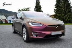 Tesla Model X helfoliert med CC4210 Matt Sparkling Berry fra PWF (5 из 12)