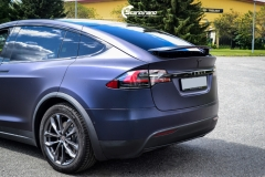 Tesla Model X helfoliert med Matt Space Mugello fra PWF,Chrome delete, Solfilm-10