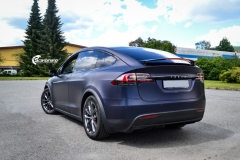 Tesla Model X helfoliert med Matt Space Mugello fra PWF,Chrome delete, Solfilm-12