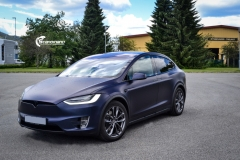 Tesla Model X helfoliert med Matt Space Mugello fra PWF,Chrome delete, Solfilm-2