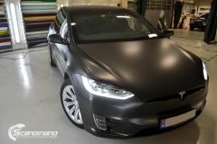 Tesla Model X helfoliert med Satin Dark Grey fra 3M, Solfilm,Chrme delete