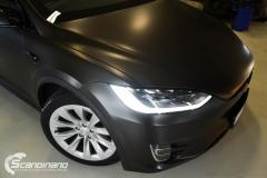 Tesla Model X helfoliert med Satin Dark Grey fra 3M, Solfilm,Chrme delete-2