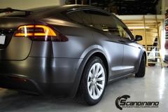 Tesla Model X helfoliert med Satin Dark Grey fra 3M, Solfilm,Chrme delete-4