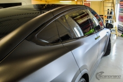 Tesla Model X helfoliert med Satin Dark Grey fra 3M, Solfilm,Chrme delete-5