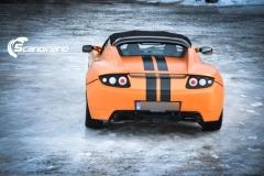 Tesla Roadstar foliert i orange Scandinano_-12