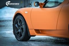 Tesla Roadstar foliert i orange Scandinano_-13