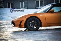 Tesla Roadstar foliert i orange Scandinano_-4