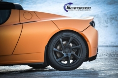 Tesla Roadstar foliert i orange Scandinano_-5