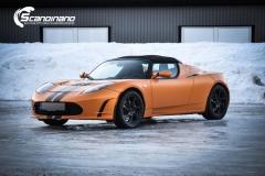 Tesla Roadstar foliert i orange Scandinano_-6