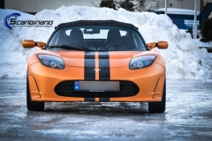 Tesla Roadstar foliert i orange Scandinano_-7