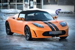 Tesla Roadstar foliert i orange Scandinano_-8