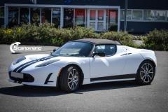 Tesla roadster foliert i hvit matt Scandinano_-2