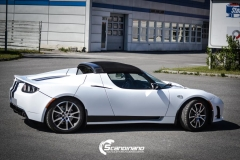 Tesla roadster foliert i hvit matt Scandinano_-5