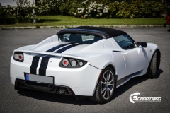 Tesla roadster foliert i hvit matt Scandinano_-6