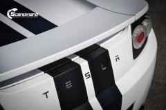 Tesla roadster foliert i hvit matt Scandinano_-7