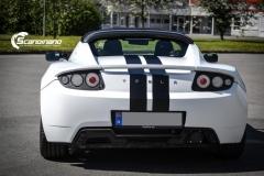 Tesla roadster foliert i hvit matt Scandinano_