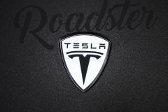 Tesla roadster foliert i matt diamond black mett pwf-4