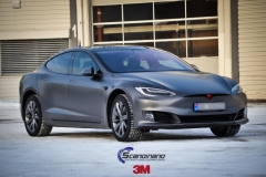 Tesla S foliert i Matt Dark Grey  (10 of 17)