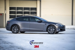 Tesla S foliert i Matt Dark Grey  (11 of 17)