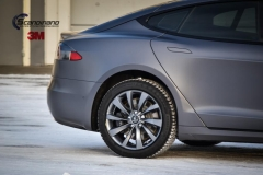 Tesla S foliert i Matt Dark Grey  (12 of 17)