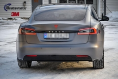 Tesla S foliert i Matt Dark Grey  (17 of 17)