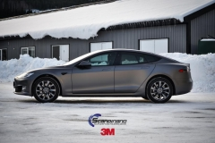 Tesla S foliert i Matt Dark Grey  (4 of 17)