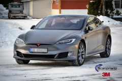 Tesla S foliert i Matt Dark Grey  (7 of 17)