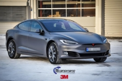 Tesla S foliert i Matt Dark Grey  (9 of 17)