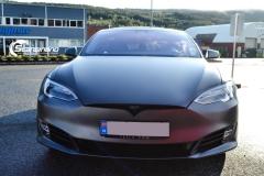 Tesla S foliert  ned matt lakkbeskyttelsesfilm-2