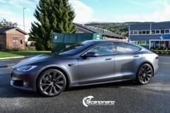 Tesla S foliert  ned matt lakkbeskyttelsesfilm-3
