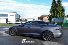 Tesla S foliert  ned matt lakkbeskyttelsesfilm-4