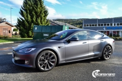 Tesla S foliert  ned matt lakkbeskyttelsesfilm-5