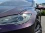 Tesla S foliert med midnight matt purple metallic by pwf