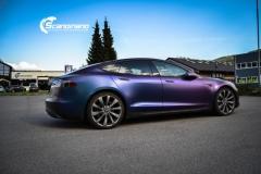 Tesla S foliert med rushing riptide Scandinano_-10