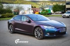 Tesla S foliert med rushing riptide Scandinano_-4