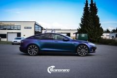 Tesla S foliert med rushing riptide Scandinano_-5