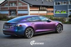 Tesla S foliert med rushing riptide Scandinano_-6