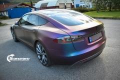 Tesla S foliert med rushing riptide Scandinano_-7
