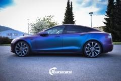 Tesla S foliert med rushing riptide Scandinano_-8
