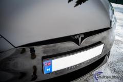 Tesla S model foliert med lakkbeskyttelsesfilm + Solfim + Chrome delete-10