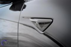 Tesla S model foliert med lakkbeskyttelsesfilm + Solfim + Chrome delete-11