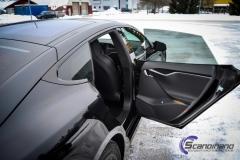 Tesla S model foliert med lakkbeskyttelsesfilm + Solfim + Chrome delete-12