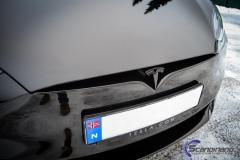 Tesla S model foliert med lakkbeskyttelsesfilm + Solfim + Chrome delete-13