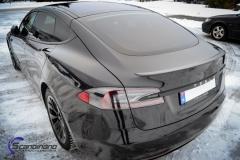 Tesla S model foliert med lakkbeskyttelsesfilm + Solfim + Chrome delete-14