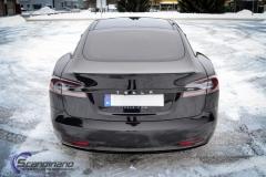 Tesla S model foliert med lakkbeskyttelsesfilm + Solfim + Chrome delete-4