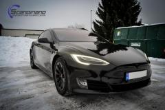 Tesla S model foliert med lakkbeskyttelsesfilm + Solfim + Chrome delete-6