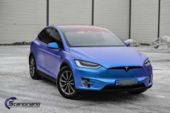 Tesla x foliert matt anoized blue fra pwf krom detaljene