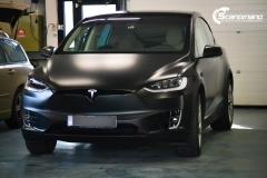 Tesla X foliert i matt lakkbeskyttelsesfilm Scandinano_