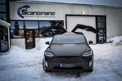Tesla X Foliert i Black Satin by Scandinano_-2